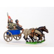 Hittite: Two horse chariot with driver, General and Javelinman