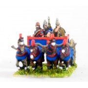 New Assyrian Empire: General in 4 horse heavy Chariot with driver and two Javelinmen