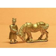 Han Chinese: 2 Horseholders with 4 horses