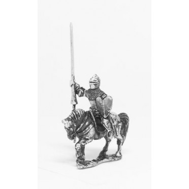 Late Medieval: Knights, 1360-1390AD in Assorted Helms & Jupon with Lance & Shield Unarmoured Horse