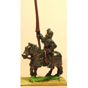 Late Medieval: Knights, 1400-1430AD in Full Plate & Great Helm, with Lance on Armoured Horse