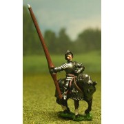 Late Medieval: Knights, 1420-1480AD in Full Plate & Sallet with Lance, on Armoured Horse