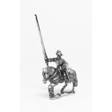 Late Medieval: Knights, 1420-1480AD in Full Plate & Sallet with Lance, on Unarmoured Horse