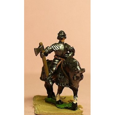 Late Medieval: Knights, 1420-1480AD in Full Plate & Sallet with Mace, Axe or Sword, on Armoured Horse