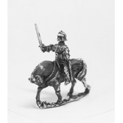Late Medieval: Knights, 1420-1480AD in Full Plate & Sallet with Mace, Axe or Sword on Unarmoured Horse