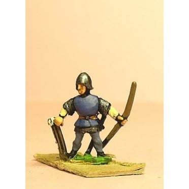 Late Medieval: Retinue Archer drawing arrow