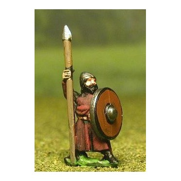 Late Medieval: Isleman / Galloglaich in Long Tunic with Round Shield & Spear