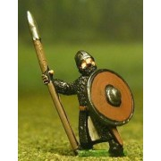 Late Medieval: Isleman / Galloglaich in Mail Coat with Round Shield & Spear