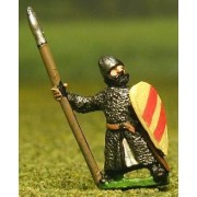 Late Medieval: Isleman / Galloglaich in Mail Coat with Kite Shield & spear