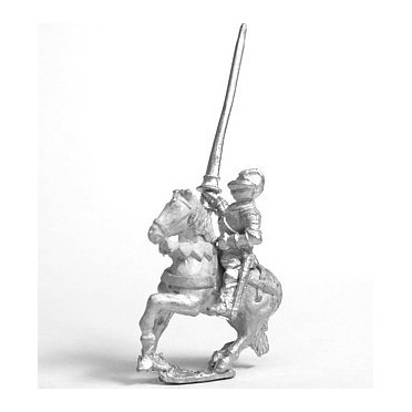 Early Renaissance: Gendarme in Closed Helm with no plume on Unarmoured Horse