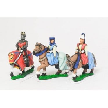 Command: King / General & two Mounted Ladies 1150-1300AD