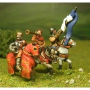 Command pack: Mounted King, Standard Bearer and Herald 1300-1360