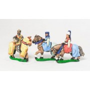 Command: King / General & two Mounted Ladies 1300-1360AD