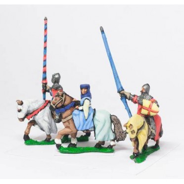 Command: Mounted Lady with two Bodyguards 1360-1400AD