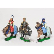 Command: King / General & two Mounted Ladies 1360-1420AD