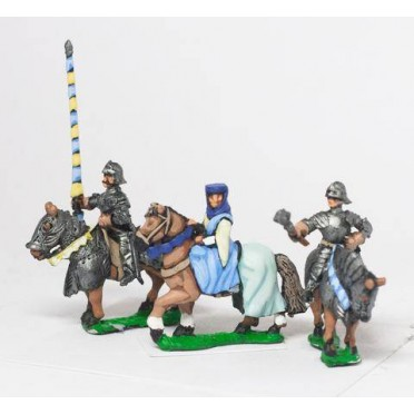 Command: Mounted Lady with two Bodyguards 1380-1450AD
