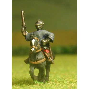 "Renaissance 1520-1580AD: ""Miller"" Man At Arms in Closed Helms & Cassock with two Pistols on Unarmoured Horse"