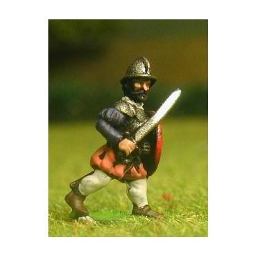Renaissance 1520-1580AD: Armoured Swordsmen with Round Shield