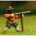 Late Medieval: Musketeer with rest in Hat, firing 0