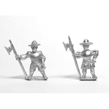 Hallebardiers en chapeaux 1520-1580