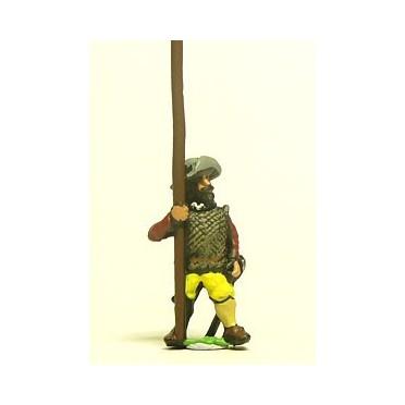 Spanish & English 1559-1605AD: Medium Pikemen in Hat with Pike upright