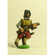 Spanish & English 1559-1605AD: Musketeer in Morion, advancing