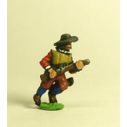 Spanish & English 1559-1605AD: Musketeer in Hat, advancing