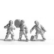 Medieval serfs with baggage