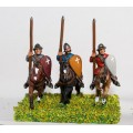 Mounted Sergeants in Conical Helms and Cloth Tunic, with Kite Shield & Lance on Unarmoured Horse 0