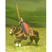 Mounted Sergeants, in Assorted Helms & Mail Coat, with Kite shield & Lance on Unarmoured Horse