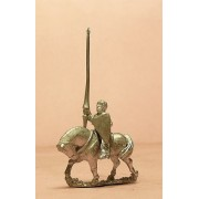 Mounted Knights, 1100-1200AD with Kite Shield & Lance, on Unbarded Horse