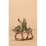 Mounted Knights, 1100-1200 with Kite Shield, Mail Coifs, Mace, Axe or Sword on Unbarded Horse