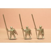 Medium Infantry in assorted helms with Long Spear & Large Shield
