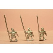 Heavy Infantry in assorted helms with Long Spear & Kite Shield
