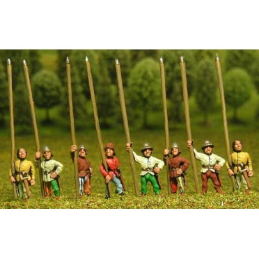 Light / Medium Spearmen with Large Shield & assorted helms