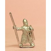 Heavy Spearmen with Kite Shield, in Long Mail Coat & pointed helm