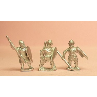 Light / Medium Spearmen, various dress, kite shields