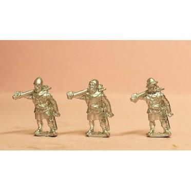 Medium Axemen with shields & assorted helms