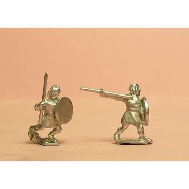 Javelinmen with round shield