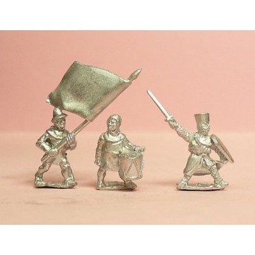 Command: 3 Foot Standard Bearers, 2 Drummers, 1 Dismounted Knight