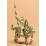Spanish: Knights, 1150-1300AD with Lance & Round Shield on Barded Horse