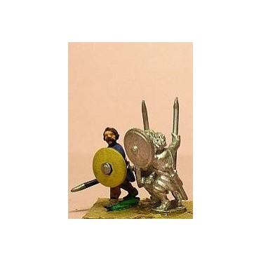 Spanish: Javelinmen with bare heads & Round Shield