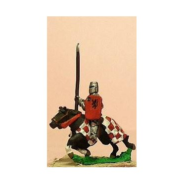 Later Spanish: Knights, 1350-1420AD in Jupon with Lance & Shield, on Barded Horse