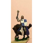 LaterSpanish: Knights, 1350-1420AD in Jupon with Mace & Shield, on Barded Horse