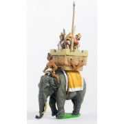 Seleucid: Elephant & driver with pikeman, archer and javelinman in howdah