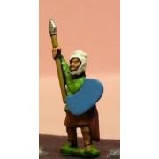 Achaemenid Persian: Kardakes with bow, shield and raised javelin