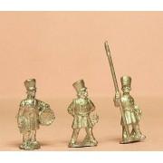 Prussian 1814-15: Command: Officer, Standard Bearer & Drummer in Shako