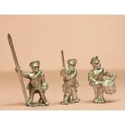 Prussian 1814-15: Command: Reservist Officer, Standard Bearer & Drummer in Cap