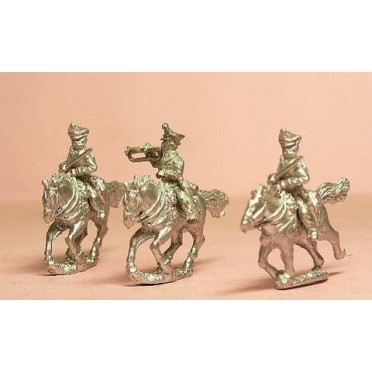 Prussian 1814-15: Command: Russo-German Hussar Officers & Trumpeter