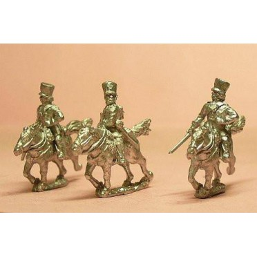Prussian 1814-15: Command: Landwehr Cavalry Officers & Trumpeter